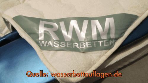 oberteil f r rwm wasserbett bezug ab 179 81 180x200 cm. Black Bedroom Furniture Sets. Home Design Ideas