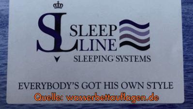 oberteil f r sleep line wasserbett bezug ab 179 81 180x200 cm. Black Bedroom Furniture Sets. Home Design Ideas